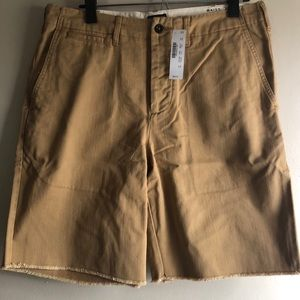 🆕 J.Crew khaki raw-edge shorts